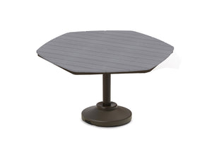 "Hexagonal Rustic Polymer Top 62"" Table"
