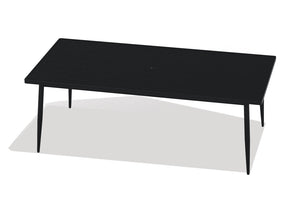 Rectangle Aluminum Slat Top Table