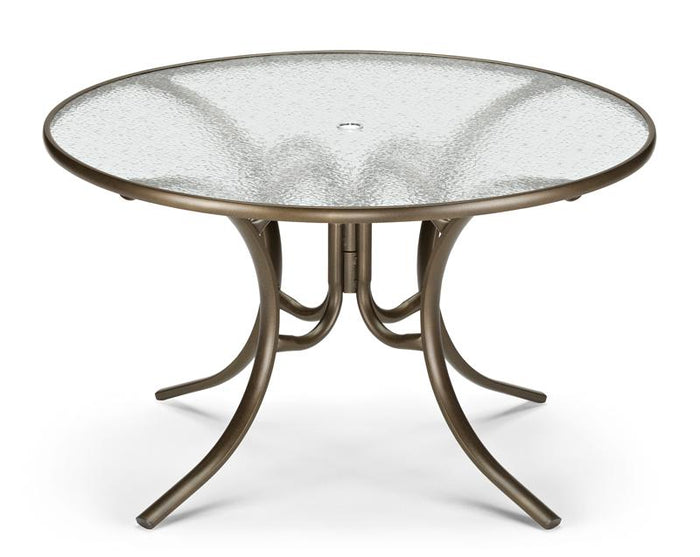 "Round Glass Top 48"" Dining Table"