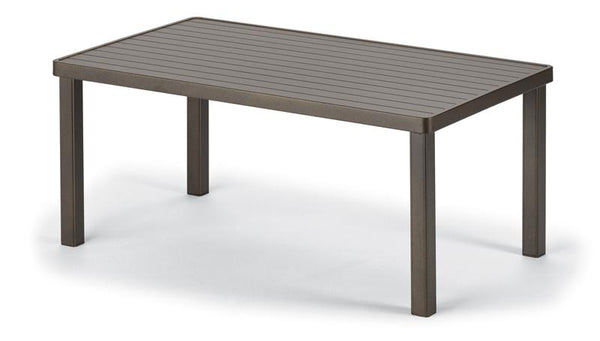 Aluminum Slat Top Table, 24 x 42 Coffee Table