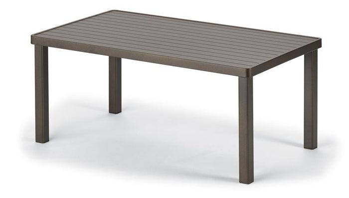 "Aluminum Slat Top 24"" x 42"" Coffee Table"