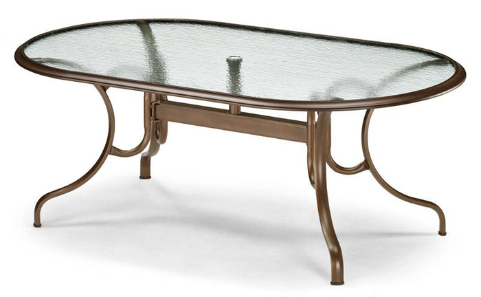 "Oval Glass Top 43"" x 75"" Dining Table"