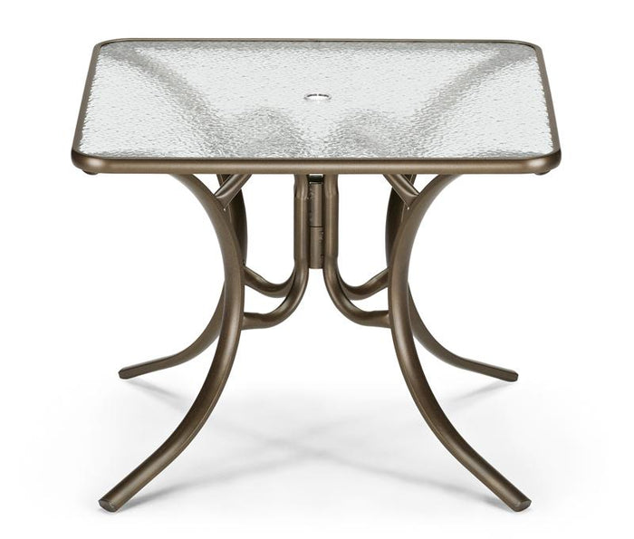 "Square Glass Top 36"" Table"