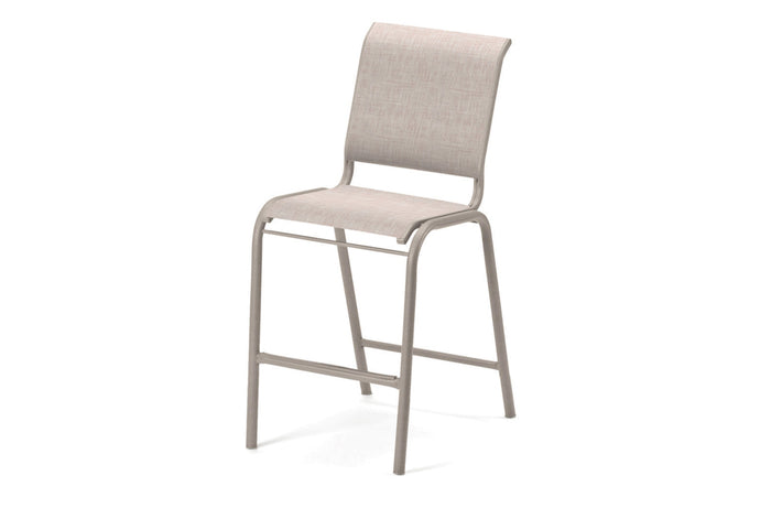 Gardenella Sling Balcony Height Stacking Armless Cafe Chair