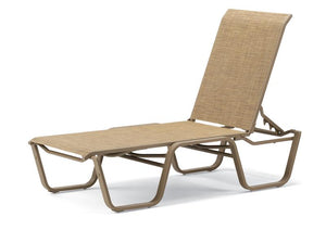 Aruba II Sling Four-Position Lay-flat Stacking Armless Chaise