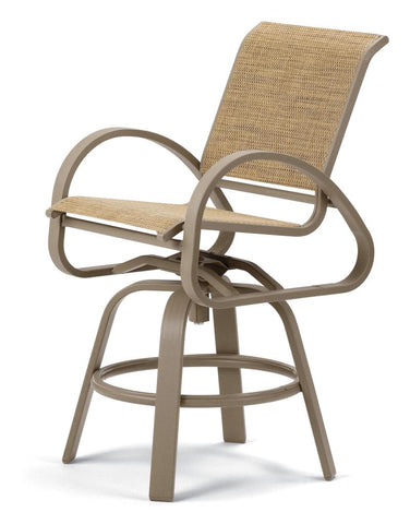 Aruba II Sling Balcony Height Swivel Cafe Chair