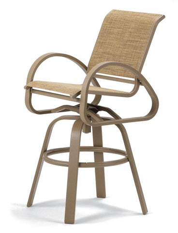 Aruba II Sling Bar Height Swivel Cafe Chair