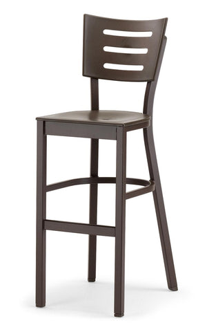 Avant MGP Aluminum Bar Height Stacking Armless Chair