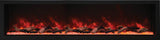 Amantii BI-88-DEEP-XT – 88″ Wide – Deep Indoor or Outdoor Built-in only Electric Fireplace with Black Steel Surround