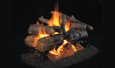 AMERICAN OAK-SEE THRU GAS LOGS-VENTED