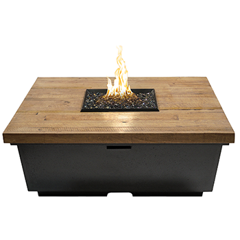Reclaimed Wood Contempo Square Firetable