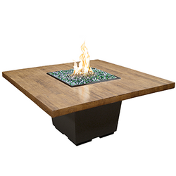 Reclaimed Wood Cosmo Square Dining Firetable