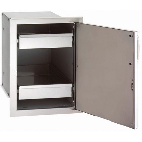 FireMagic Echelon Single Access Door With Dual Drawers
