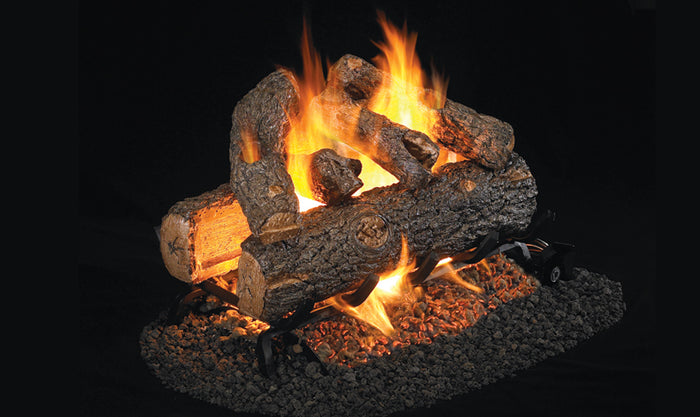 Golden Oak Designer Plus - See Thru Vented Gas Logs