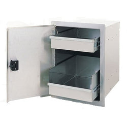 FireMagic Legacy Single Access Door with Enclosed Dual Drawer