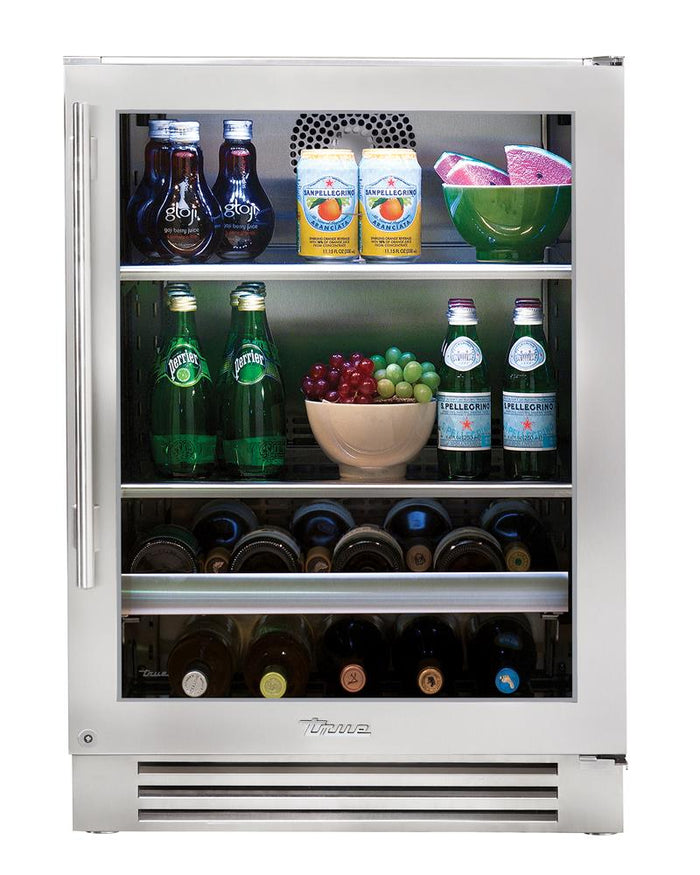 "True Beverage Center- 24"" Stainless Glass Door"