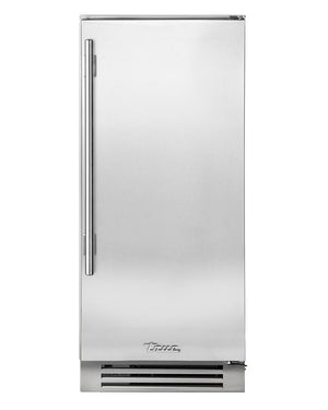 "True Clear Ice Machine- 15"" Stainless Solid Door"