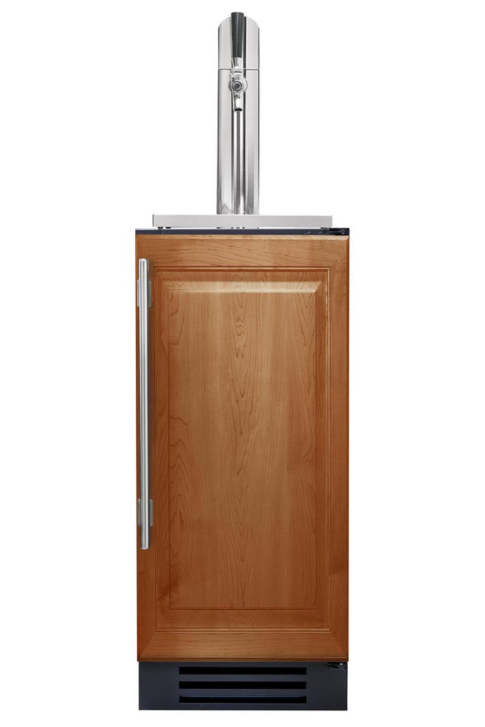 "True Beverage Dispenser- 15"" Single Tap Overlay Solid Door"