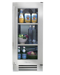 "True Undercounter Refrigerator- 15"" Stainless Glass Door"