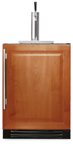 "True Beverage Dispenser- 24"" Single Tap Overlay Solid Door"