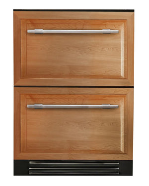 "True Undercounter Refrigerator Drawers- 24"" Overlay Panel Drawers"