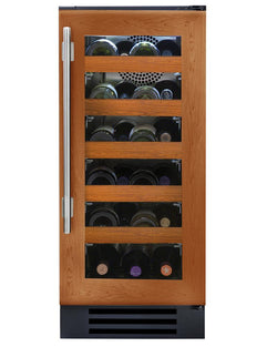 "True Wine Cabinet- 15"" Single Zone Overlay Glass Door"