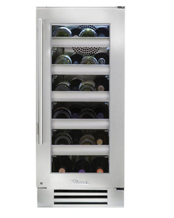 "True Wine Cabinet- 15"" Single Zone Stainless Glass Door"