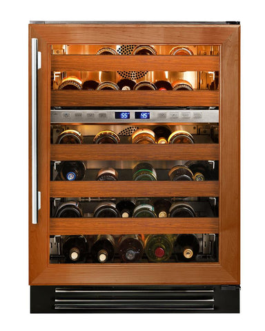 "True Wine Cabinet- 24"" Dual Zone Overlay Glass Door"