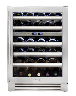 "True Wine Cabinet- 24"" Dual Zone Stainless Glass Door"
