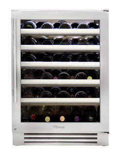 "True Wine Cabinet- 24"" Single Zone Stainless Glass Door"