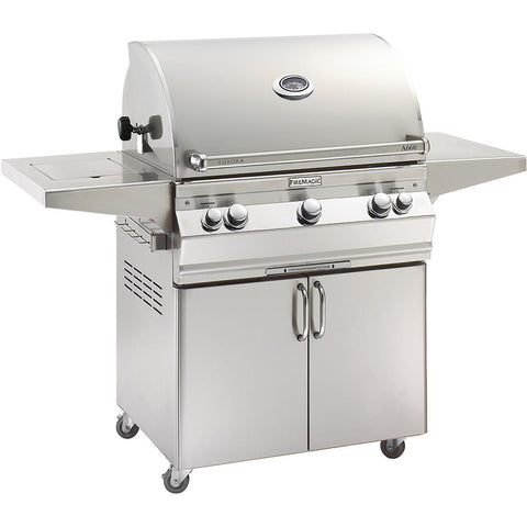 FireMagic Aurora A660s Portable Grill with Analog Thermometer & Flush Mounted Single Side Burner