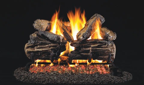 Charred Split Oak Vented Gas Logs
