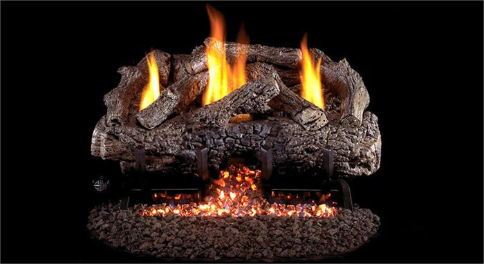Charred Frontier Oak Gas Logs- Vent Free