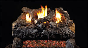 Evening Fyre Charred Gas Logs- Vent Free
