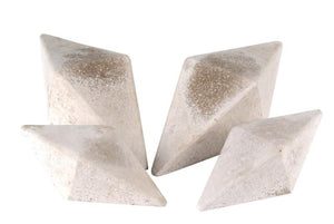 Realfyre Geo Shapes-Diamonds-Ivory