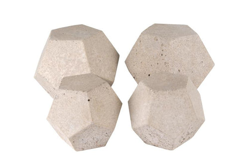 Realfyre Geo Shapes-Domes-Ivory