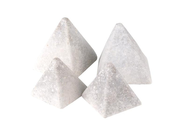Realfyre Geo Shapes-Pyramids-Ivory