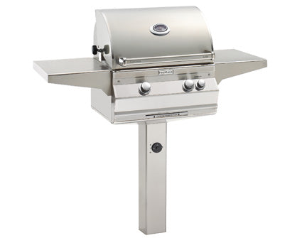 FireMagic Aurora A430s In Ground Post Mount  Grill with Analog Thermometer