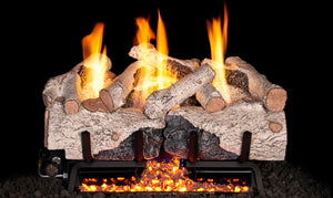 Charred Alpine Birch Gas Logs- Vent Free