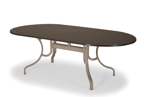 "MGP 42"" x 84"" Oval Dining Height Table w/ hole"