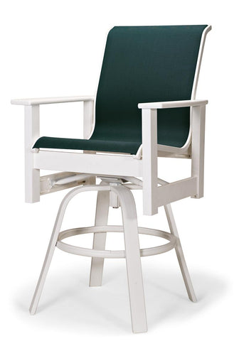 Leeward MGP Sling Balcony Height Swivel Arm Chair