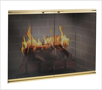 The Elite Glass Fireplace Door