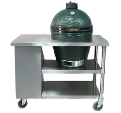 Short Table with Bin for Big Green Egg