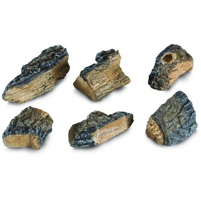 Decorative Charred Wood Chips - Set Of 6