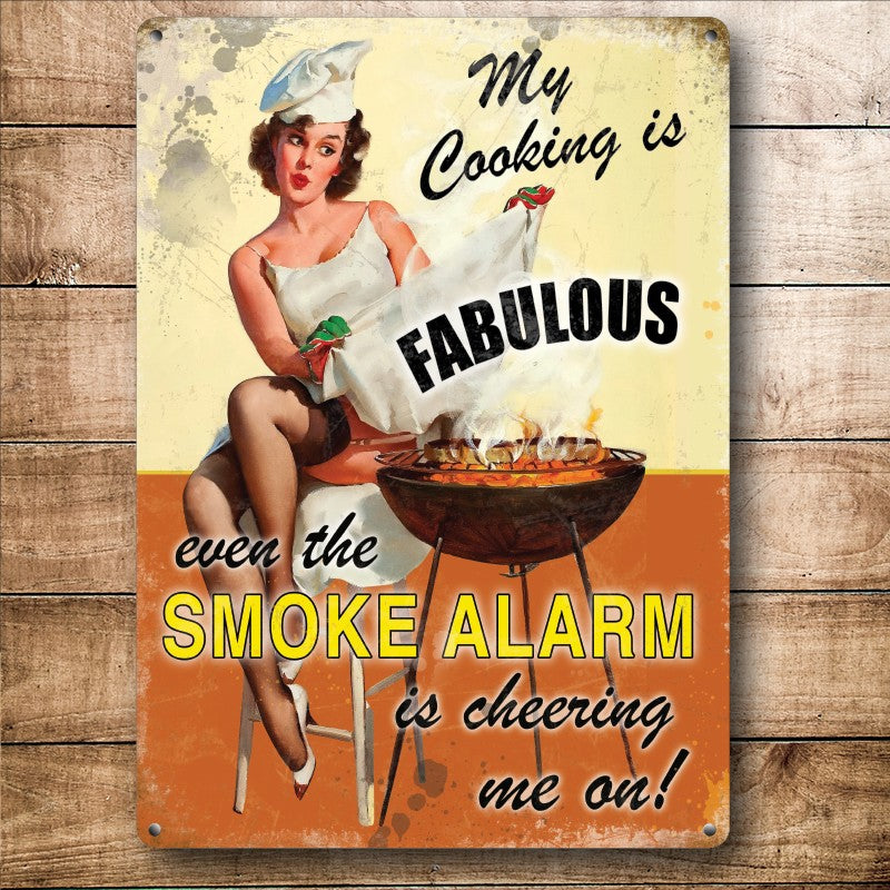 Road-Knights Online Metal Wall Signs #cantcook #wontcook #burnttoast #fire #smoke