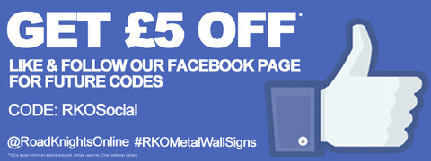 Use code 'RKOSocial' to get £5 off your order. Keep checking online for even better savings #save #fiver