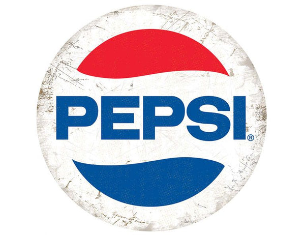 Pepsi Logo Retro Drink Cola Classic Round Metal/Steel Wall Sign