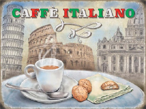caffe-italiano-coffee-food-drink-cafe-shop-kitchen-diner-metal-steel-wall-sign