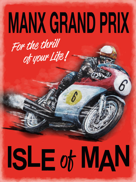 Manx Grand Prix Isle Of Man IOM Motorbike Race TT,  Fridge Magnet