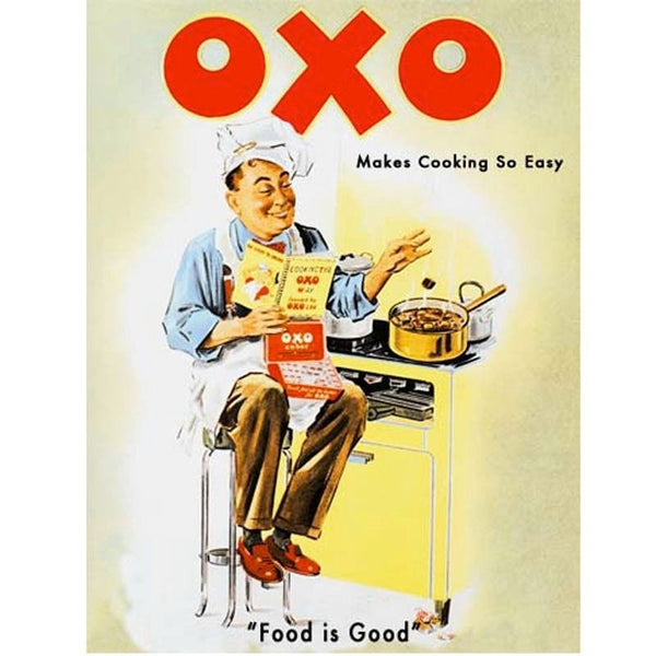 oxo-cooking-chef-food-and-drink-cafe-kitchen-classic-retro-makes-cooking-so-easy-food-is-good-old-retro-vintage-advert-funny-humour-showing-a-man-in-the-kitchen-cooking-old-sexism-advert-showing-men-don-t-cant-cook-metal-steel-wall-sign